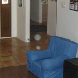 Picture of an orb floating about the floor